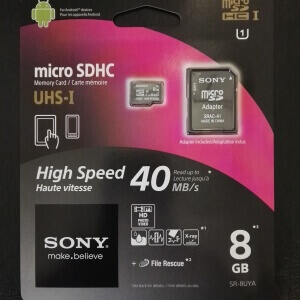 Sony micro SD Karte 8GB